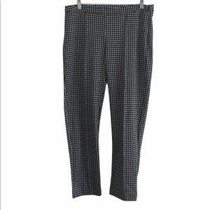 Michael Kors Pull On Plaid Trousers